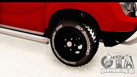 Dacia Duster Pickup для GTA San Andreas вид сзади
