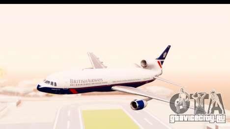 Lockheed L-1011-100 TriStar British Airways для GTA San Andreas вид сзади слева