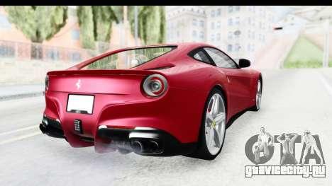 Ferrari F12 Berlinetta 2014 для GTA San Andreas вид справа