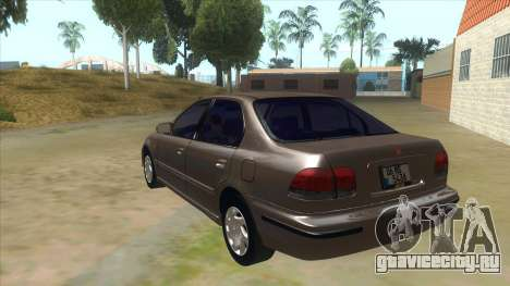 Honda Civic Sedan Stock для GTA San Andreas вид сзади слева