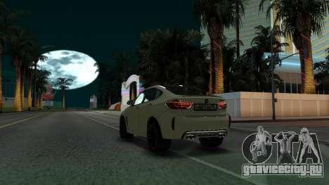 BMW X6M Bulkin Edition для GTA San Andreas вид сзади