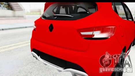 Renault Clio Four Air для GTA San Andreas вид сзади