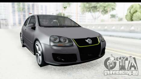Volkswagen Golf 5 Stock для GTA San Andreas вид справа