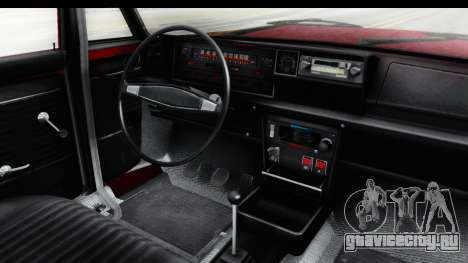 Zastava 125PZ Roadster Coupe для GTA San Andreas вид изнутри