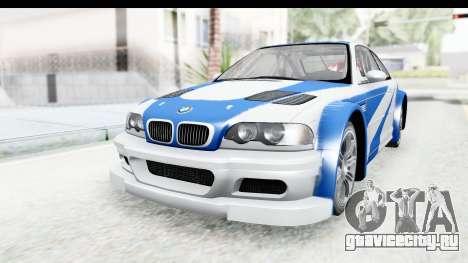 NFS: MW - BMW M3 GTR для GTA San Andreas вид справа