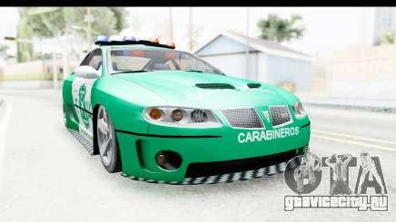Pontiac GTO 2006 Carabineros De Chile для GTA San Andreas