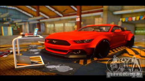 Ford Mustang 2015 Liberty Walk LP Performance для GTA San Andreas вид сзади