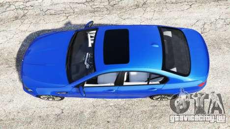 BMW M5 (F10) 2012 [replace] для GTA 5 вид сзади