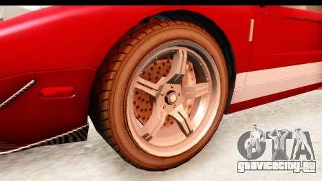 GTA 4 TboGT Bullet для GTA San Andreas вид сзади
