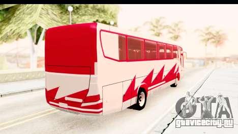 Smaga Bus для GTA San Andreas вид сзади слева
