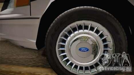 Ford Crown Victoria 1997 El Quebrados Police для GTA San Andreas вид справа