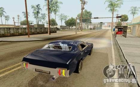 HD Sabre Greedy для GTA San Andreas вид сзади слева