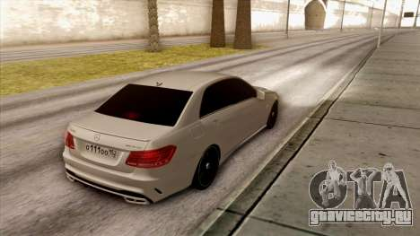 Mercedes-Benz E63 v.2 для GTA San Andreas вид сзади