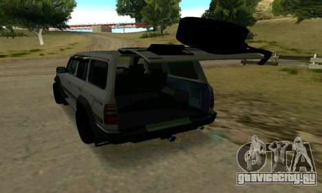 Toyota Land Cruiser 80 для GTA San Andreas вид сзади
