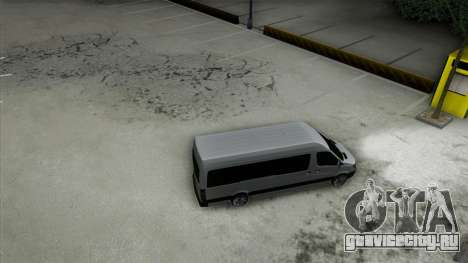 Mercedes-Benz Sprinter для GTA San Andreas вид снизу