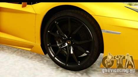 Lamborghini Aventador LP700-4 Roadster v2 для GTA San Andreas вид сзади