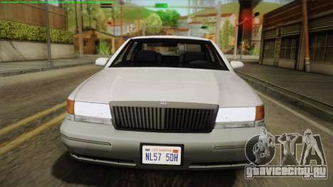 Willard Elegant IVF для GTA San Andreas вид справа