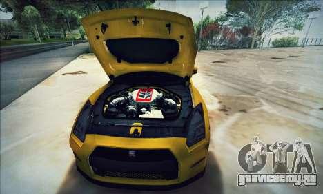Nissan GT-R R35 Premium для GTA San Andreas вид сбоку