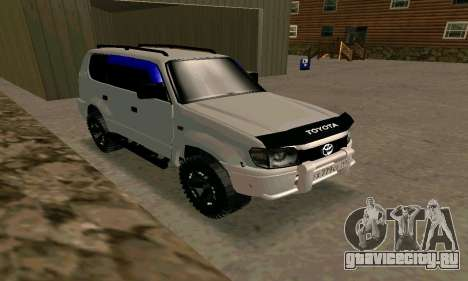 Toyota Land Cruiser 95 для GTA San Andreas вид справа
