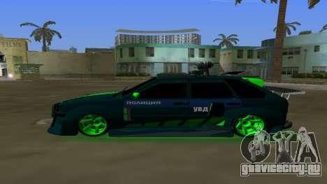 ВАЗ 2114 ДПС Тюнинг для GTA Vice City вид слева