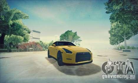 Nissan GT-R R35 Premium для GTA San Andreas вид сверху