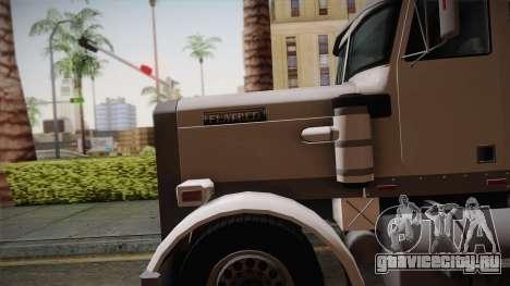 GTA 4 Flatbed для GTA San Andreas вид сзади слева