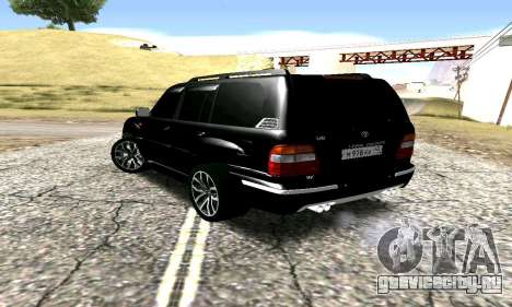 Toyota Land Cruiser 100 для GTA San Andreas вид слева