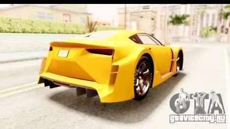 GTA 5 Emperor ETR1 IVF для GTA San Andreas вид справа