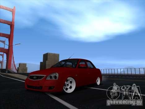 VAZ 2170 STANCE для GTA San Andreas вид сзади слева