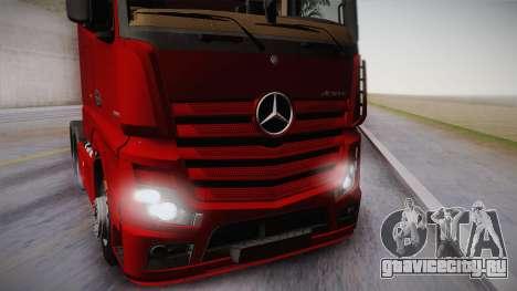Mercedes-Benz Actros Mp4 6x4 v2.0 Bigspace v2 для GTA San Andreas вид сзади слева