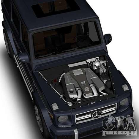 Mercedes-Benz G63 для GTA San Andreas вид справа