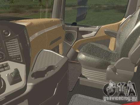 Mercedes-Benz Actros Mp4 6x2 v2.0 Gigaspace для GTA San Andreas вид изнутри