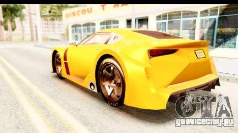 GTA 5 Emperor ETR1 IVF для GTA San Andreas вид слева