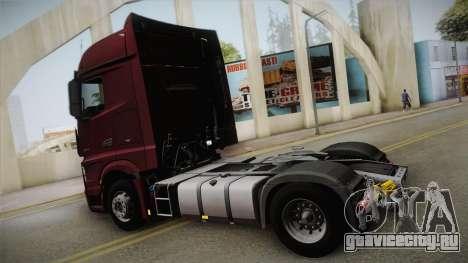 Mercedes-Benz Actros Mp4 4x2 v2.0 Bigspace v2 для GTA San Andreas вид слева