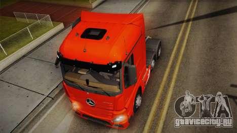 Mercedes-Benz Actros Mp4 6x2 v2.0 Steamspace v2 для GTA San Andreas вид сзади