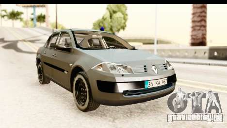 Renault Megane 2 Sedan Unmarked Police Car для GTA San Andreas