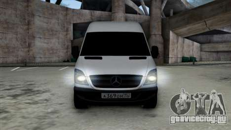 Mercedes-Benz Sprinter для GTA San Andreas вид сзади