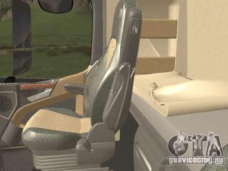 Mercedes-Benz Actros Mp4 v2.0 Tandem Big для GTA San Andreas салон