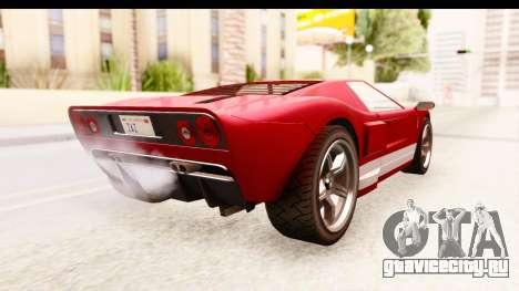 GTA 4 TboGT Bullet для GTA San Andreas вид слева