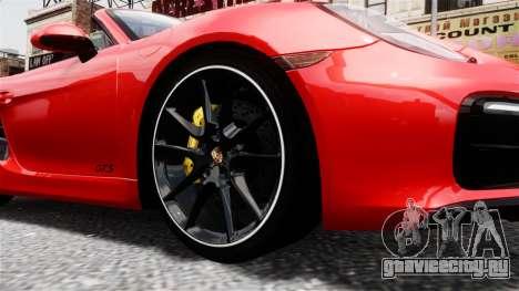 Porsche Boxster GTS 2014 для GTA 4 вид справа