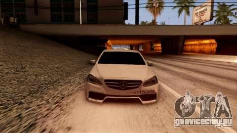 Mercedes-Benz Е63 для GTA San Andreas вид сзади