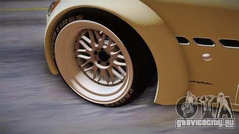 Maserati Gran Turismo Rocket Bunny для GTA San Andreas вид изнутри