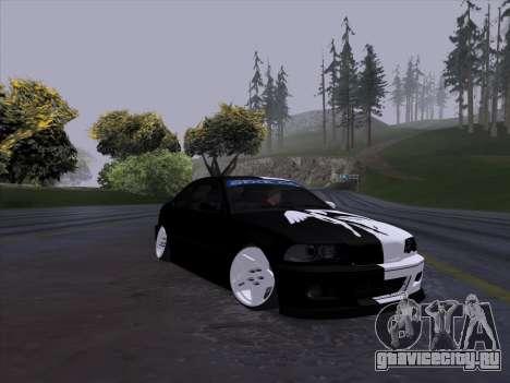 BMW E46 Good and Evil для GTA San Andreas вид сзади слева