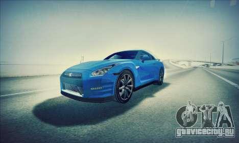 Nissan GT-R R35 Premium для GTA San Andreas вид справа