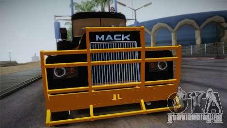 Mack R600 v1 для GTA San Andreas вид справа