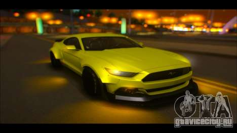 Ford Mustang 2015 Liberty Walk LP Performance для GTA San Andreas вид изнутри