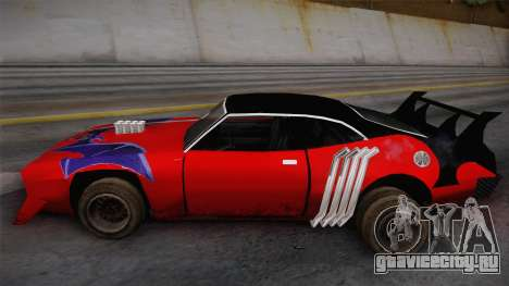 Ford Falcon 1972 Red Bat для GTA San Andreas вид сзади слева