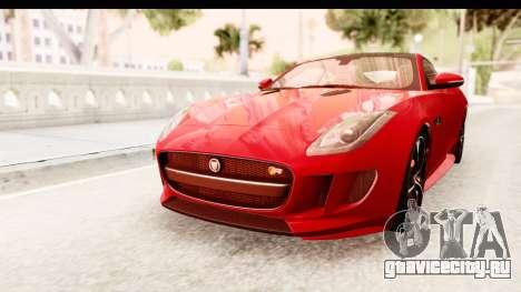 Jaguar F-Type R Coupe 2015 для GTA San Andreas вид справа