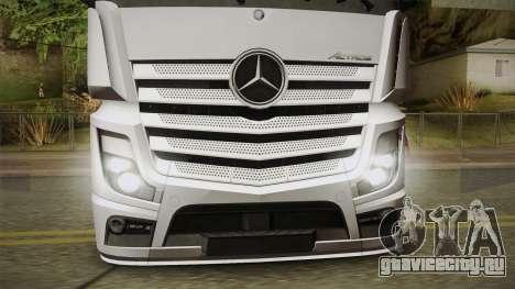 Mercedes-Benz Actros Mp4 6x2 v2.0 Bigspace v2 для GTA San Andreas вид сзади слева