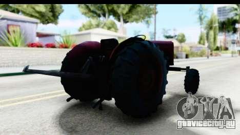 Fireflys Tractor для GTA San Andreas вид сзади слева